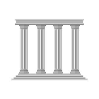 Platte retro oude kolommen