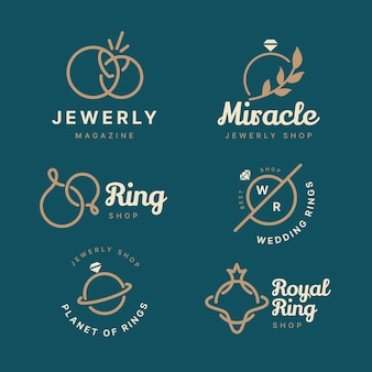 Platte ring logo-collectie