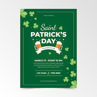 Platte saint patrick's day folder sjabloon