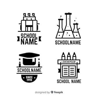 Platte school logo sjabloonverzameling