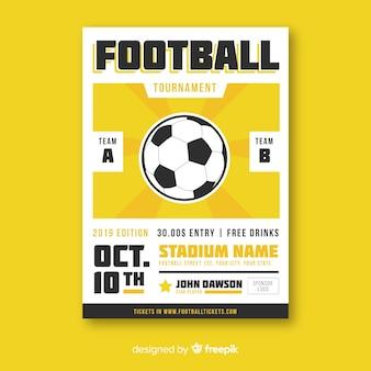 Platte sjabloon van voetbal poster