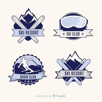 Platte ski en sneeuwbadcollectie