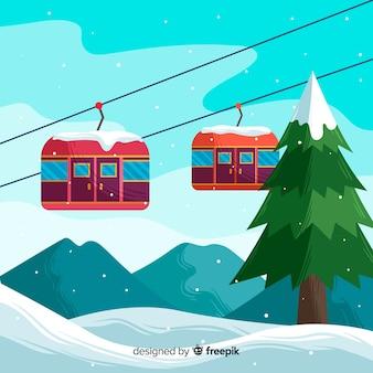 Platte skistation