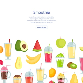 Platte smoothie banner banner set