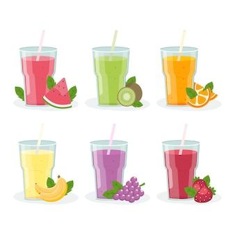 Platte smoothies in blenderglas