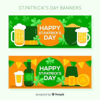Platte st. patrick's dag banner