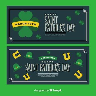 Platte st. patrick's dag banners