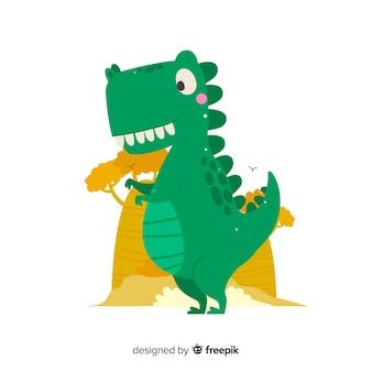 Platte t-rex achtergrond