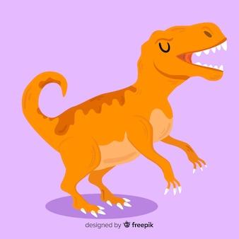 Platte t rex achtergrond