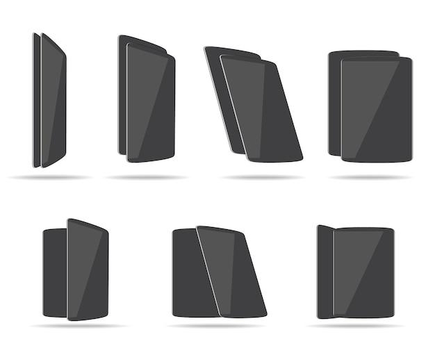 Platte tabletten verschillende hoeken