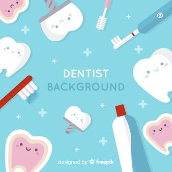 Platte tandarts achtergrond
