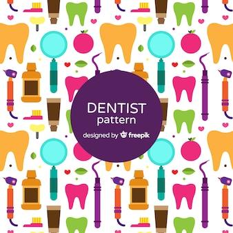 Platte tandarts elementen patroon