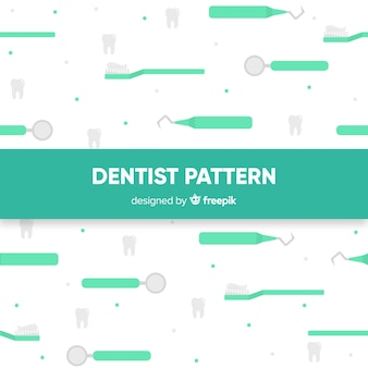 Platte tandarts gereedschap patroon
