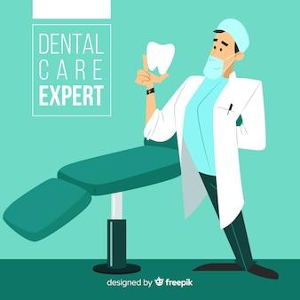 Platte tandarts karakter
