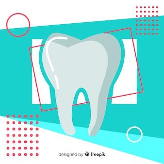 Platte tandheelkundige kliniek achtergrond