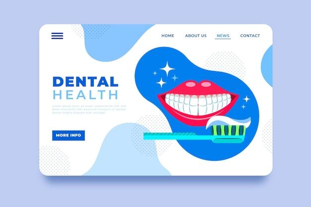 Platte tandheelkundige zorg websjabloon
