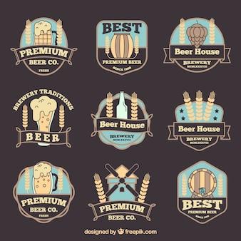 Platte tarwe logo collectie