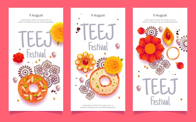 Platte teej festival banners set