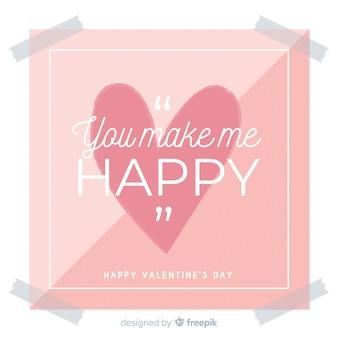 Platte teken valentine achtergrond
