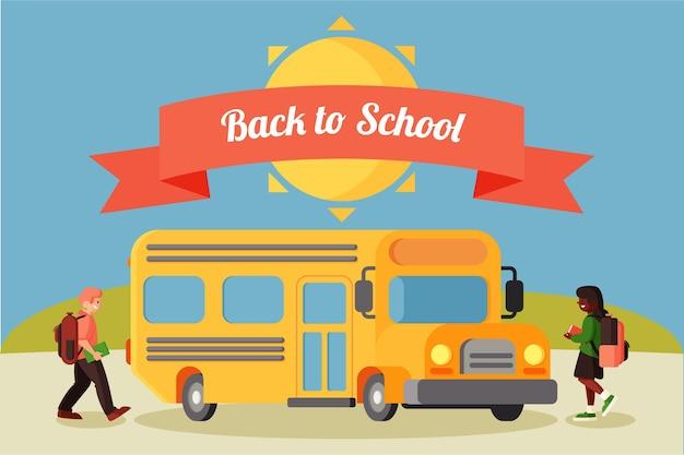 Platte terug naar school achtergrond