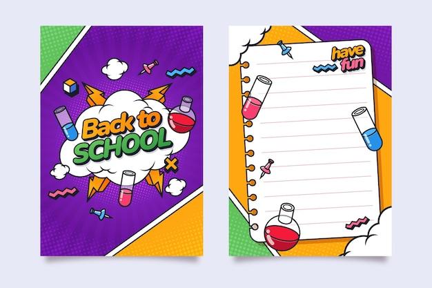 Platte terug naar school kaartsjabloon