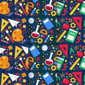 Platte terug naar school patrooncollectie