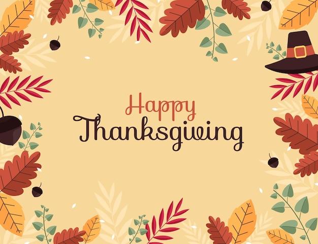 Platte thanksgiving-achtergrond