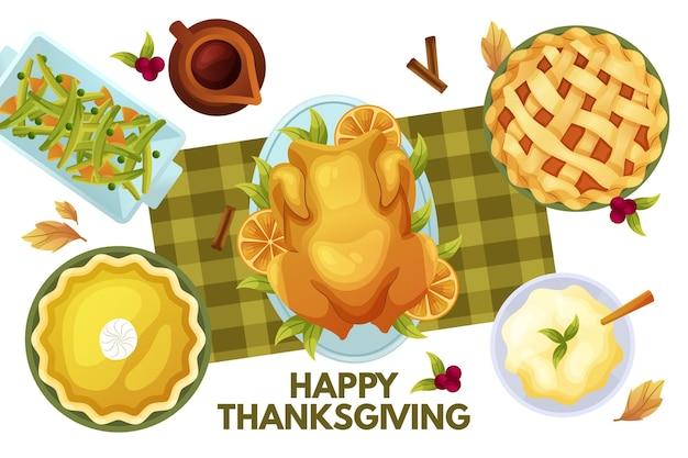 Platte thanksgiving achtergrond