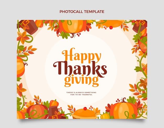 Platte thanksgiving photocall-sjabloon