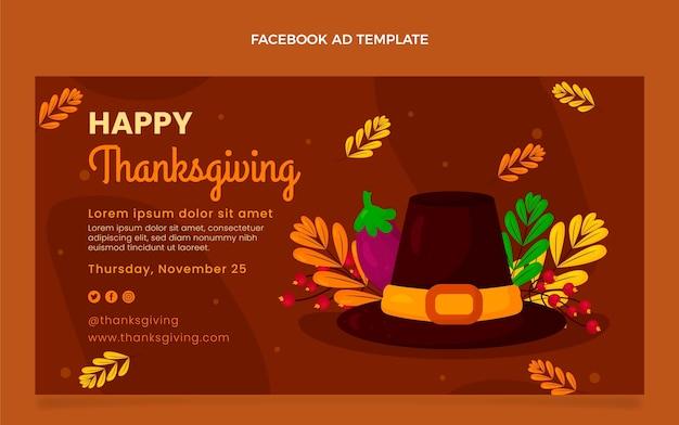 Platte thanksgiving social media promosjabloon