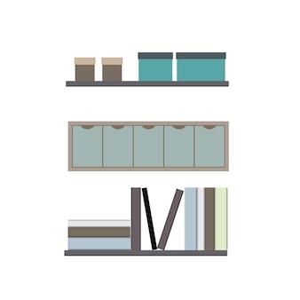 Platte thuiskantoor element illustratie