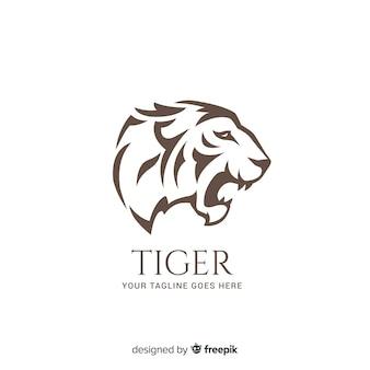 Platte tijger achtergrond