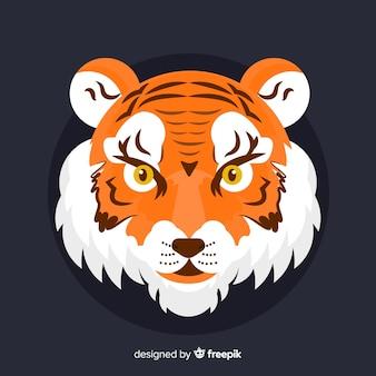 Platte tijgerkop
