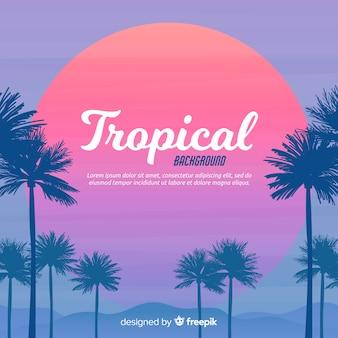 Platte tropische achtergrond