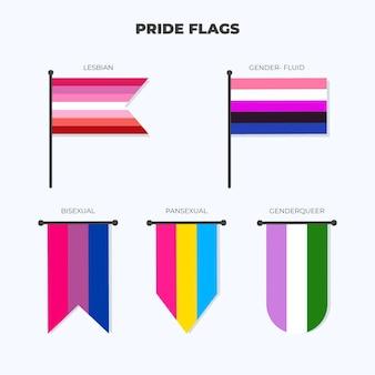 Platte trots vlag collectie