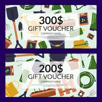 Platte tuinieren pictogrammen korting of cadeau