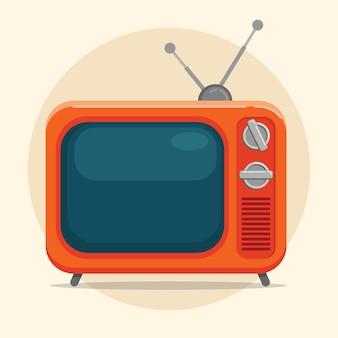 Platte tv retro tekenfilm