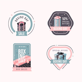 Platte tweede kerstdag verkoop badge set