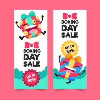 Platte tweede kerstdag verkoop banners