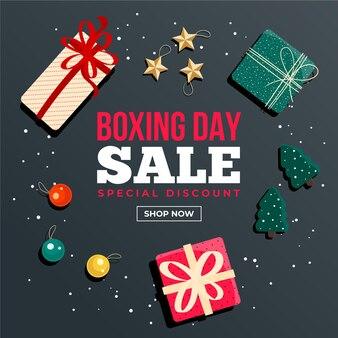 Platte tweede kerstdag verkooppromo