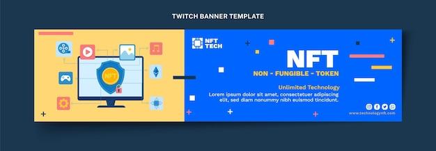 Platte twitch banner met minimale technologie
