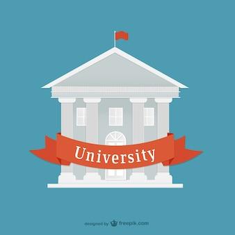 Platte universiteit vector