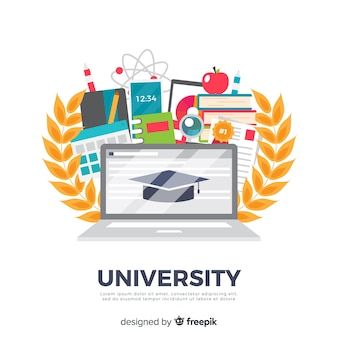 Platte universiteitsachtergrond