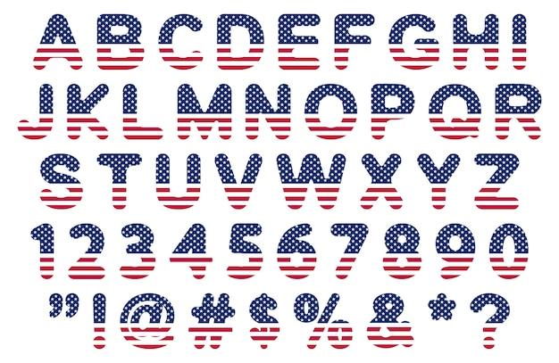 Platte usa vlag lettertype