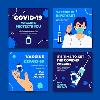 Platte vaccin instagram postverzameling