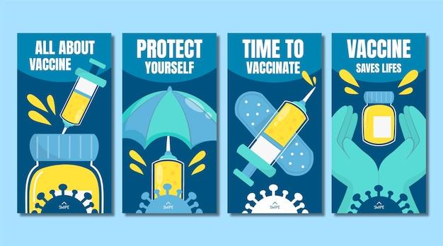 Platte vaccin instagram verhalenpakket