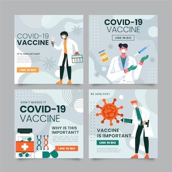 Platte vaccinatie instagram-berichten