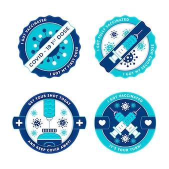 Platte vaccinatiecampagne badge-collectie