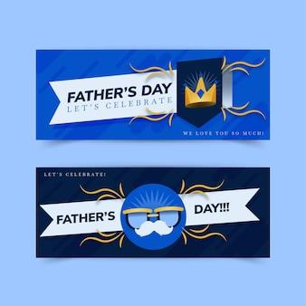 Platte vaderdag banners instellen
