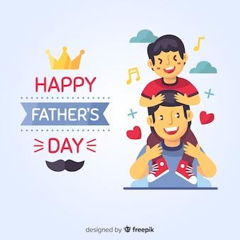 Platte vaders dag achtergrond
